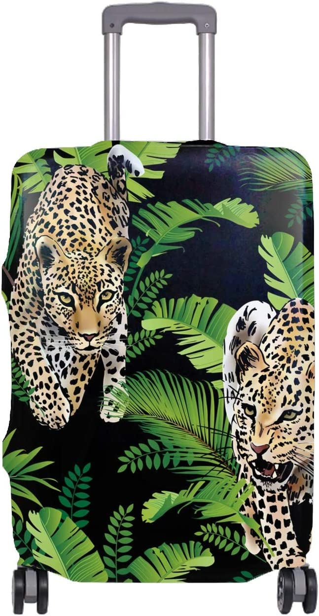Personalized Leopard Realistic Printing Spandex Travel Luggager Covers?