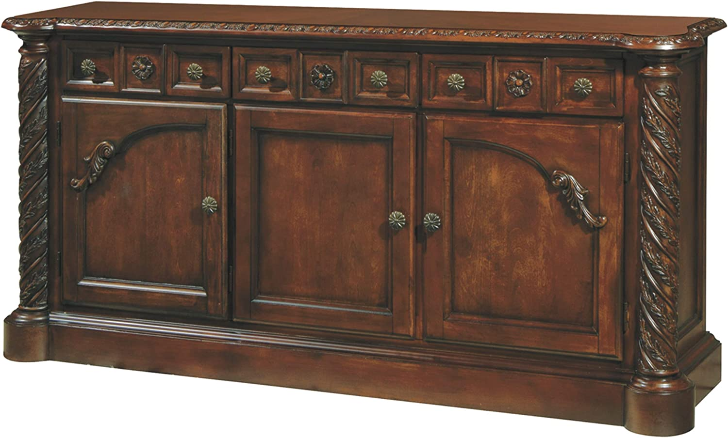 Signature Design By Ashley - North Shore Dining Room Buffet - Traditional Style - Dark Brown