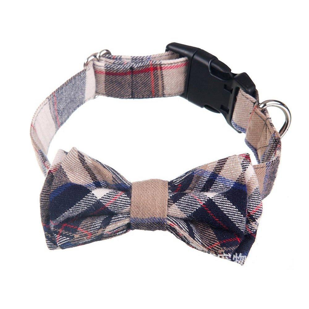 Cysincos Hunde und Katzen Halsband mit Schleife, weich und bequem verstellbares Halsband