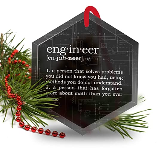 engineer definition funny glass christmas ornament - What Is The Definition Of Christmas