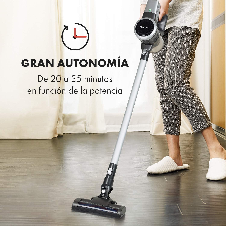 Klarstein Clean Butler 4G Aspiradora Silenciosa con Motor de Corriente Continua Negro: Amazon.es: Hogar