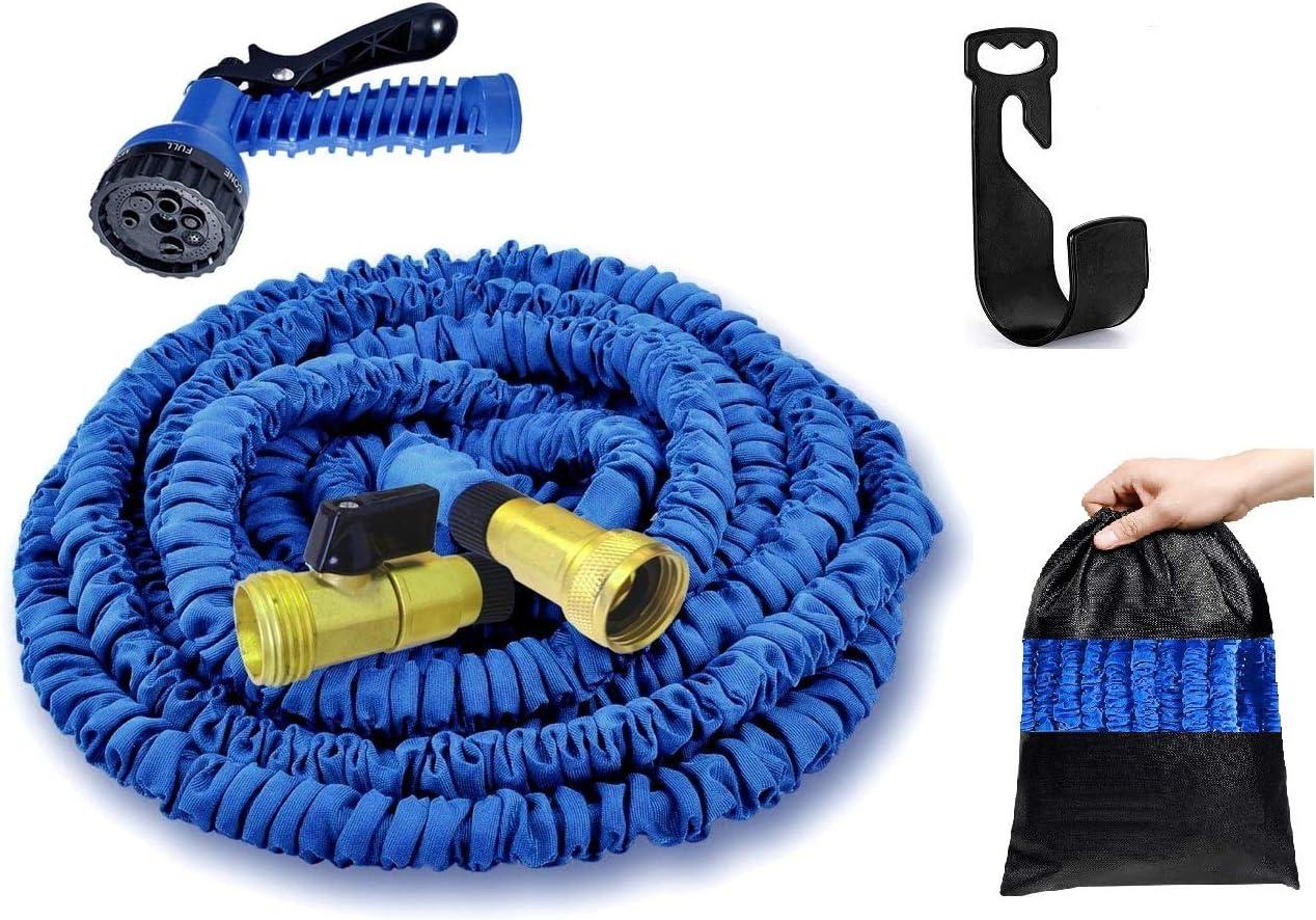 MTB 공급 확장 가능한 정원 호스 50 피트 (블루) 스프레이 노즐과 3 | 4