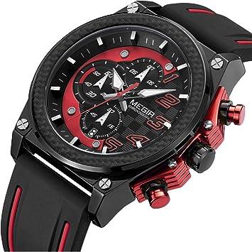 Liandu hombre Digital analógico de cuarzo reloj ejército Militar al Aire Libre Cronógrafo luminoso deporte impermeable relojes grandes diales completo ...