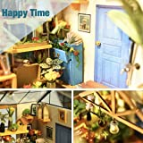 Rolife DIY Miniature Dollhouse Kit,Green House with Furniture and LED,Wooden Dollhouse Kit,Best Birthday for Women and Girls