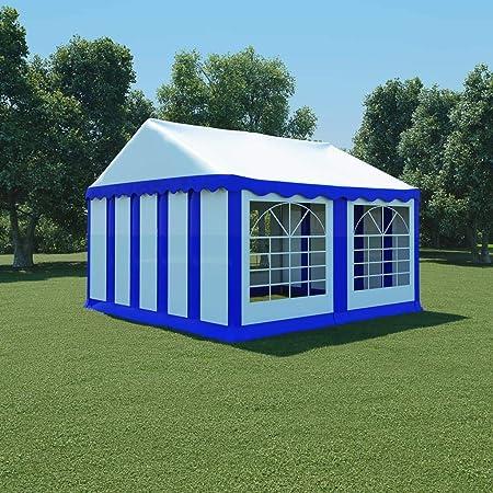 honglianghongshang Jardín Artículos de Exterior Estructuras de Exteriores Carpa de jardín de PVC 4x4 m Azul y Blanco: Amazon.es: Hogar