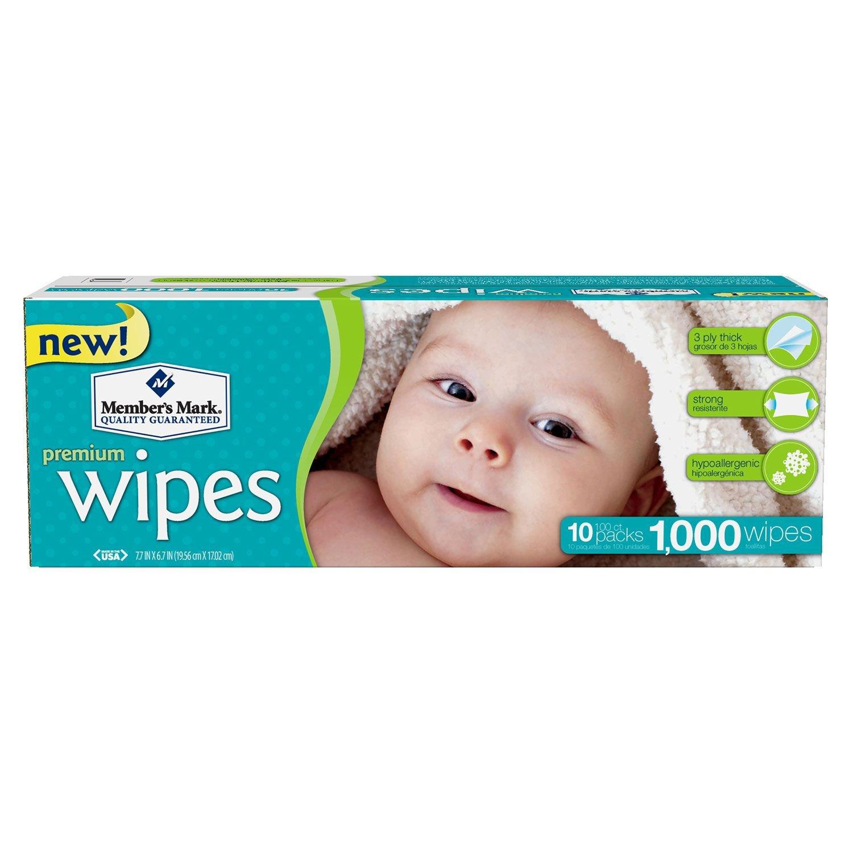Amazon.com : Member's Mark Premium Baby Wipes, 1000 ct. (10 packs of 100) :  Baby