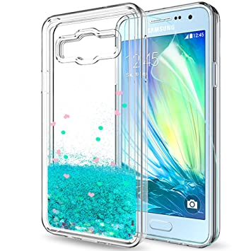 huge discount 18b3c 24adc LeYi Case for Galaxy A3 2015 with Screen Protector, Girl Women 3D Glitter  Liquid Moving Cute Personalised Clear Transparent Silicone Gel TPU ...