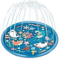 Chnaivy Splash Pad Sprinkler voor Kids Water Play Mat Water Speelgoed Splash Play Mat Baby Splash Mat Tuinen…