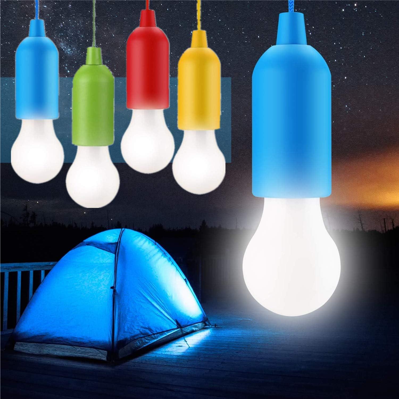 STARPIA 4 Piezas LED Bombilla, Portátil Lámpara del Cordón al Aire Libre/Interior, Camping Lantern Luz Nocturna Colgante para Fiesta, Boda, Jardín, ...