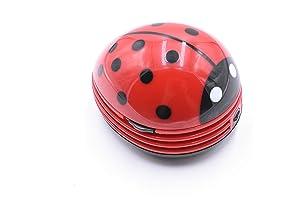 Red Beetle Shaped Portable Corner Desk Table Top Vacuum Cleaner Mini Cute Vacuum Cleaner Dust Sweeper