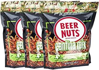 product image for BEER NUTS Cantina Mix - 32 oz. Resealable Bag (Pack of 3), Original Peanuts, Chili Lemon Roasted Corn, Black Bean Sticks, Guacamole Bites