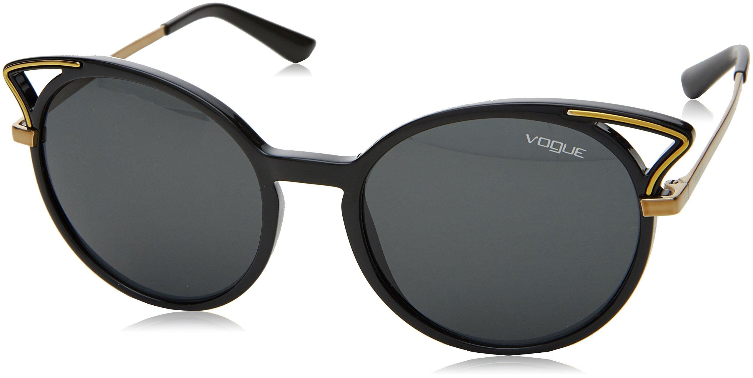 Ray-Ban Women's Plastic Woman Round Sunglasses, Black, 52 mm