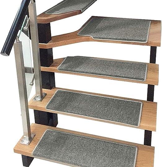 H- Alfombra de Escalera Escaleras Alfombras Alfombras Paso 24x65cm Alfombras Almohadillas Antideslizante Pasillo del Pasillo Colores Múltiples (Color : E, Size : 5 Pieces Set): Amazon.es: Hogar