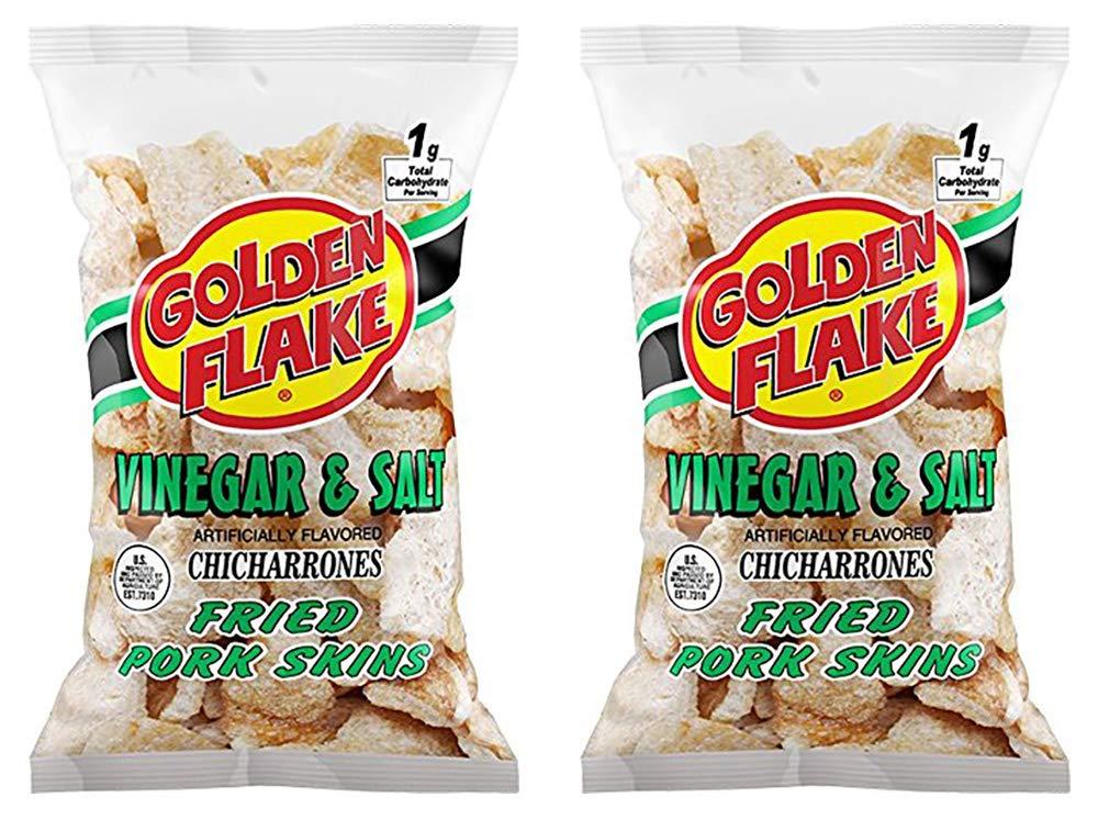 Golden Flake Vinegar & Salt Fried Pork Skins, 3.5 oz by Golden Flake (Image #1)