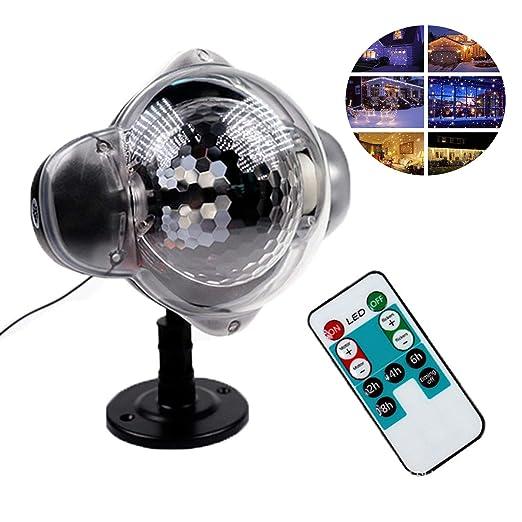 Airmood Luces de proyector de Navidad Nevadas Luces LED Copo de ...