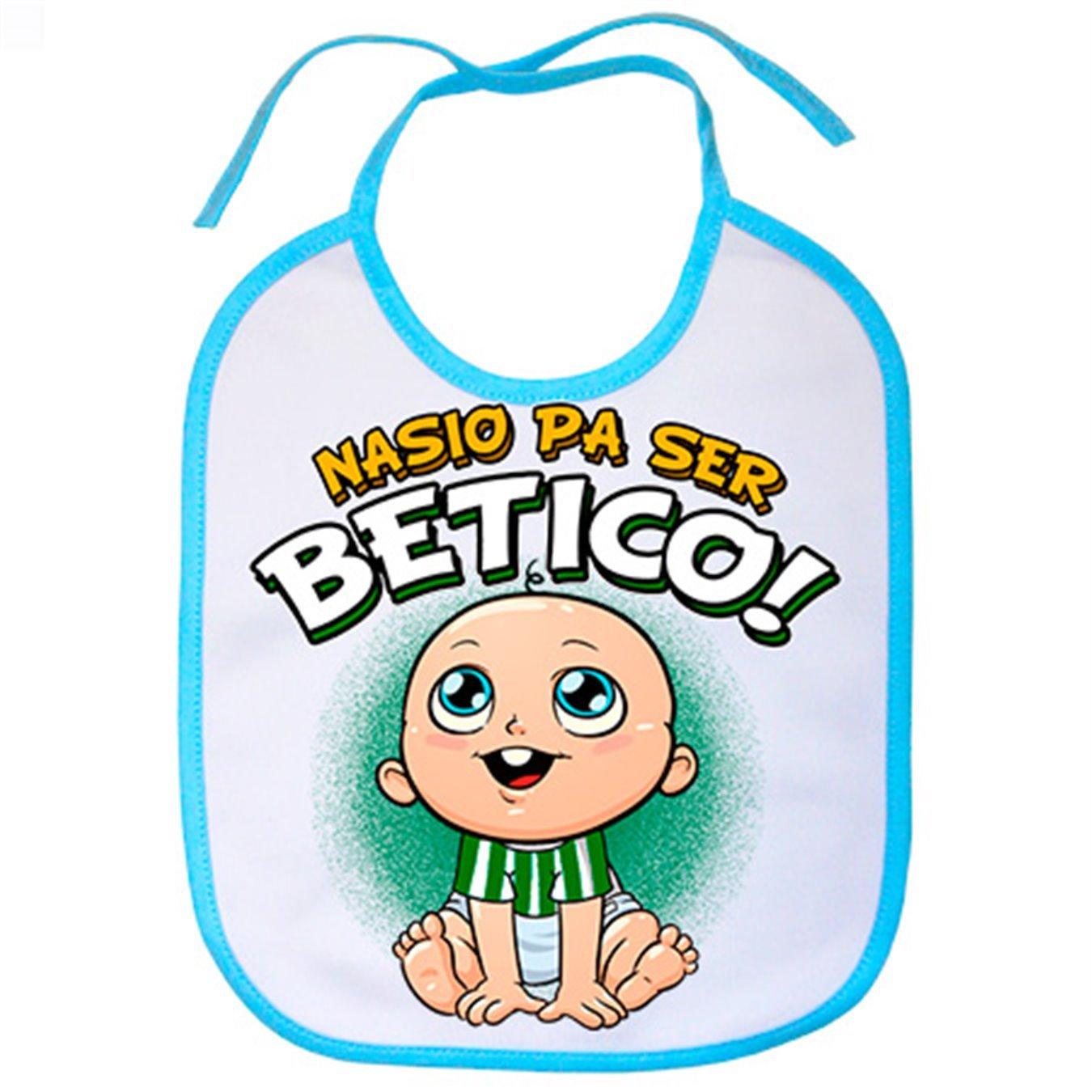 Babero nacido para ser bé tico Betis fú tbol - Celeste Diver Bebé