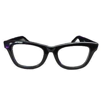 552c472008b3 Image Unavailable. Image not available for. Color  The Bluesman retro black  polycarbonate rimmed prescription eyeglass frames