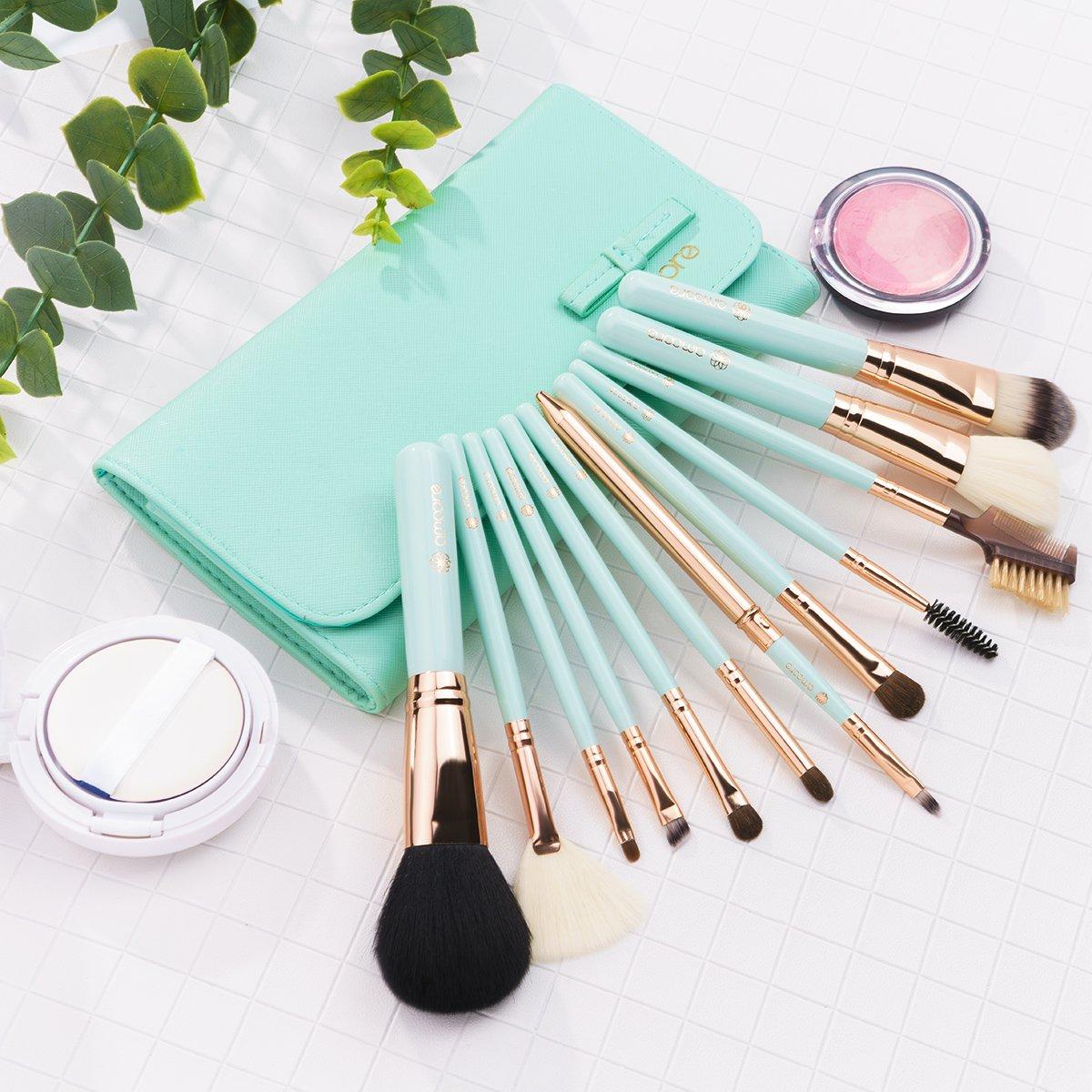 Amoore 12pcs Makeup Brushes Makeup Brush Set Makeup Brush