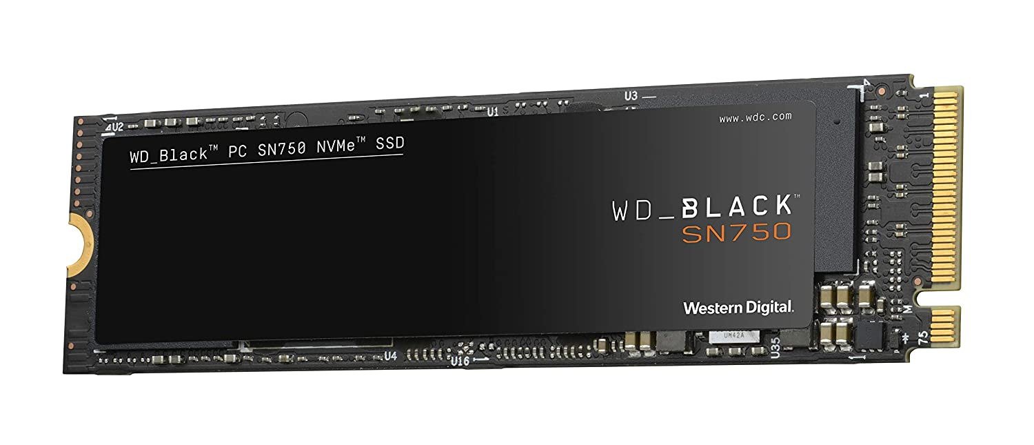 WD_Black SN750 500GB NVMe Internal Gaming SSD - Gen3 PCIe, M.2 2280, 3D NAND - WDS500G3X0C