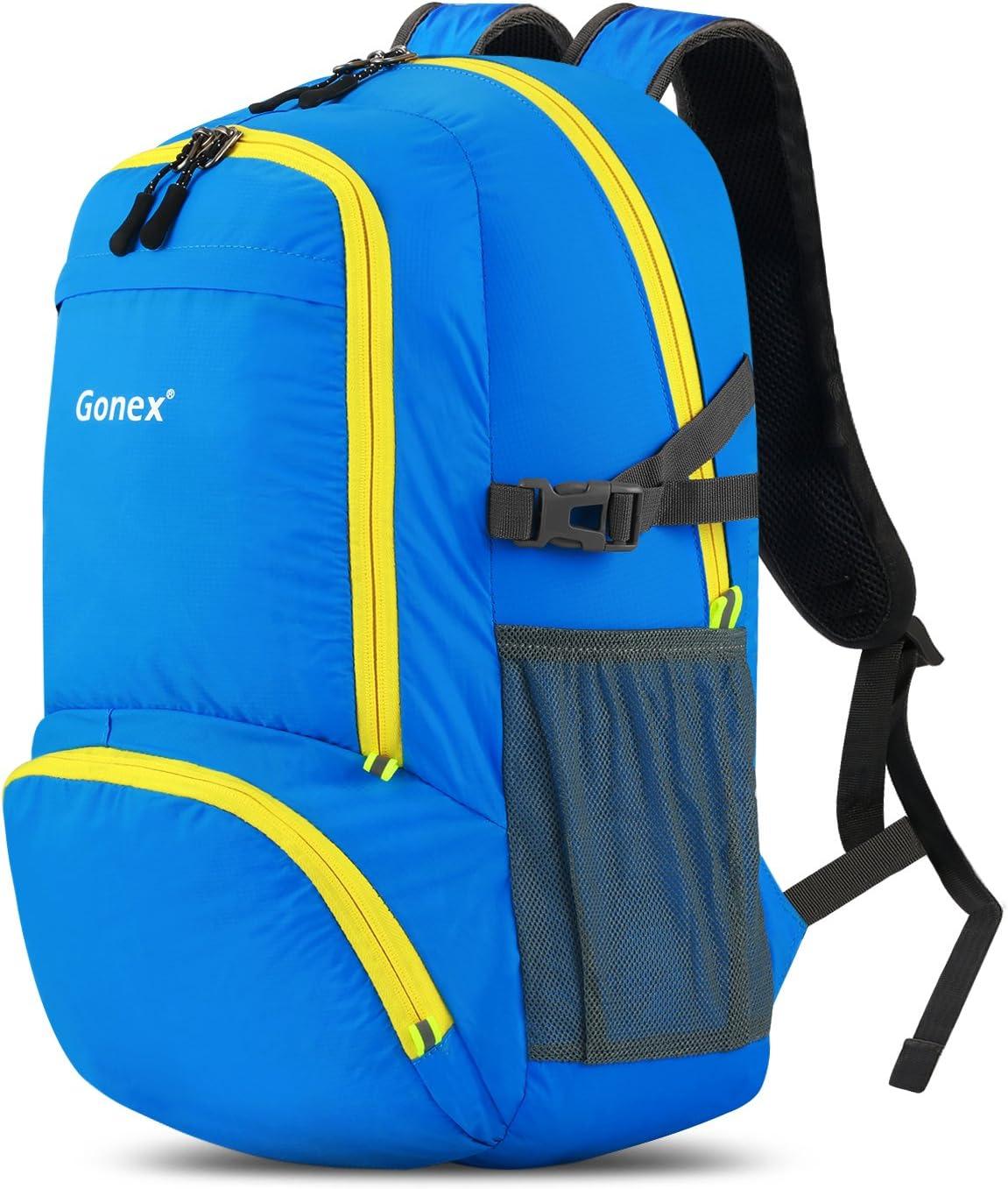 Gonex Petit Sac /à Dos 30L Pliable de Sport Ultra-L/éger Imperm/éable pour VTT V/élo Camping Randonn/ée Voyage Fitness Sac Etanche