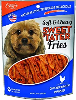 product image for Carolina Prime Pet 45016 Chicken Broth Infused Sweet Tater Fries Treat for Dogs (1 Pouch), One Size