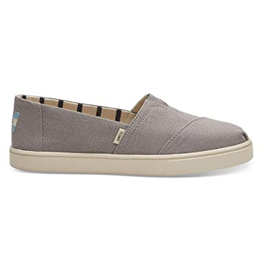 Amazon.com | TOMS Heritage Canvas Cupsole Alpargatas Morning Dove Slip-On Shoes | Flats