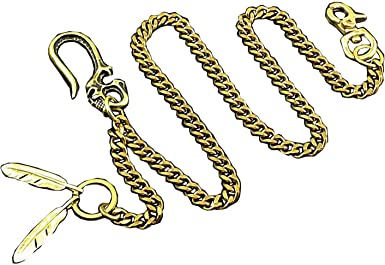Details about  /Mens Brass Key Chain Hooks Snap Clasps For Motor Biker Pant Jeans Wallet Solid