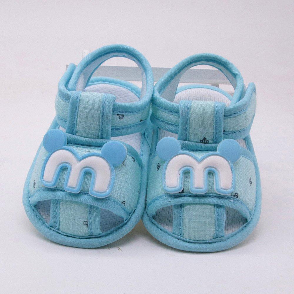 Lurryly Newborn Baby Girls Boys Cartoon Anti-Slip Footwear Crib Shoes Sandals 0-18 M