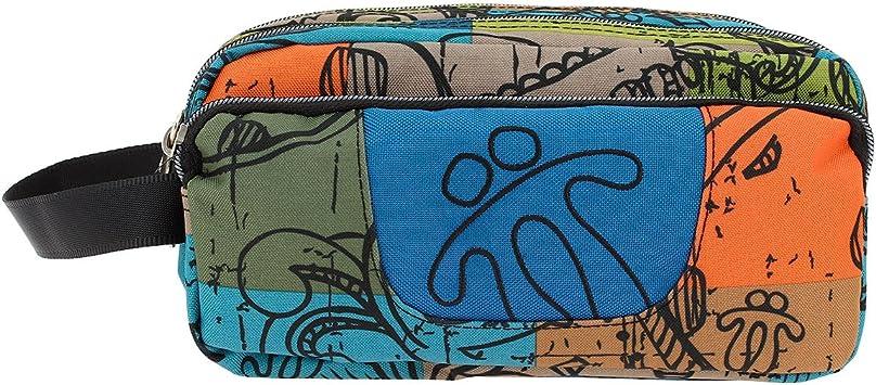 TOTTO Agapec AC52ECO009-1710Z-7T9 Estuche Escolar Tres Compartimentos, 23 cm, Multicolor (7T9): Amazon.es: Oficina y papelería