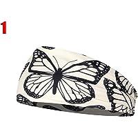 Diadema elástica con diseño de leopardo, para yoga