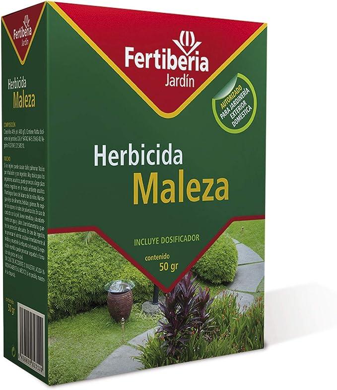 FERTIBERIA JARDÍN Herbicida Maleza para Matar Las Malas Hierbas - 50 gr (Ref: 7427): Amazon.es: Jardín