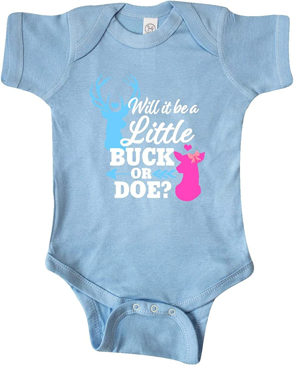 inktastic Gender Reveal Will It Be a Little Buck or Toddler Long Sleeve T-Shirt