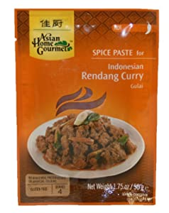Asian Home Gourmet Indonesian Rendang Curry, 1.75-Ounce Pouch (Pack of 12)