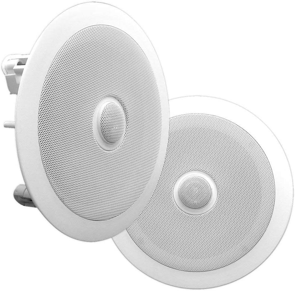 Pyle PDIC60 altavoz 125 W Blanco - Altavoces (2.0 canales, Alámbrico, Terminal, 125 W, 65-22000 Hz, Blanco)