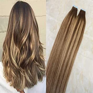 Amazon Com Hairdancing 20 40pcs 100g Ombre Highlights Honey Blonde