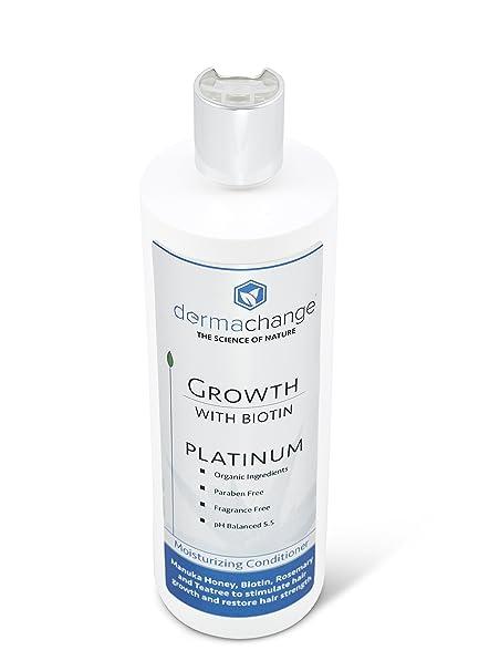 dermachange Platinum crecimiento del cabello acondicionador - con vitaminas - para hacer crecer pelo rápido - Argon aceite y Biotina para apoyo del ...