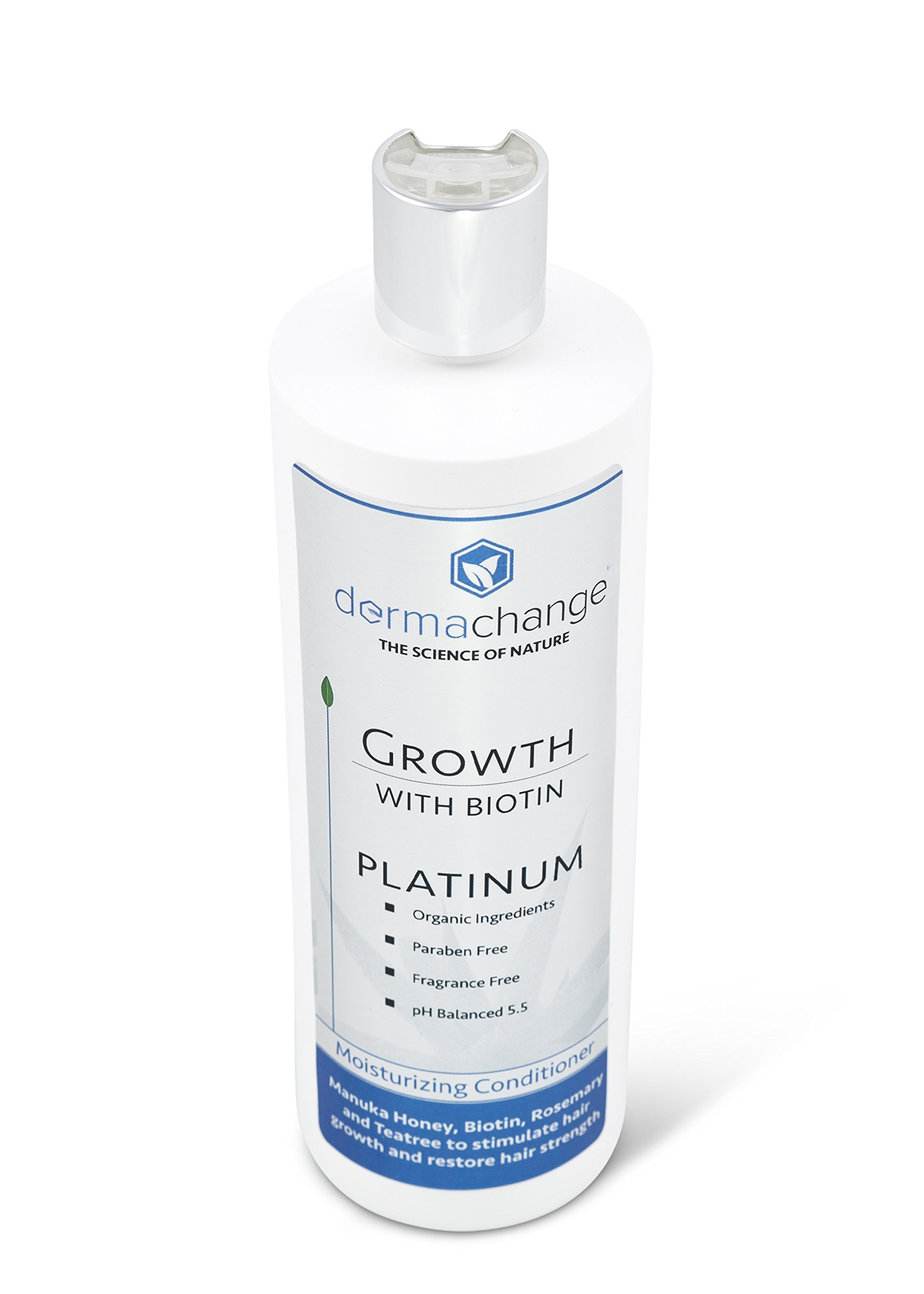 DermaChange Platinum Hair Growth Moisturizing Conditioner - With Argan Oil, Biotin & Tea Tree Extract - Supports Hair Regrowth - Hair Loss Treatments (16 oz) - Made in USA by DermaChange (Image #2)