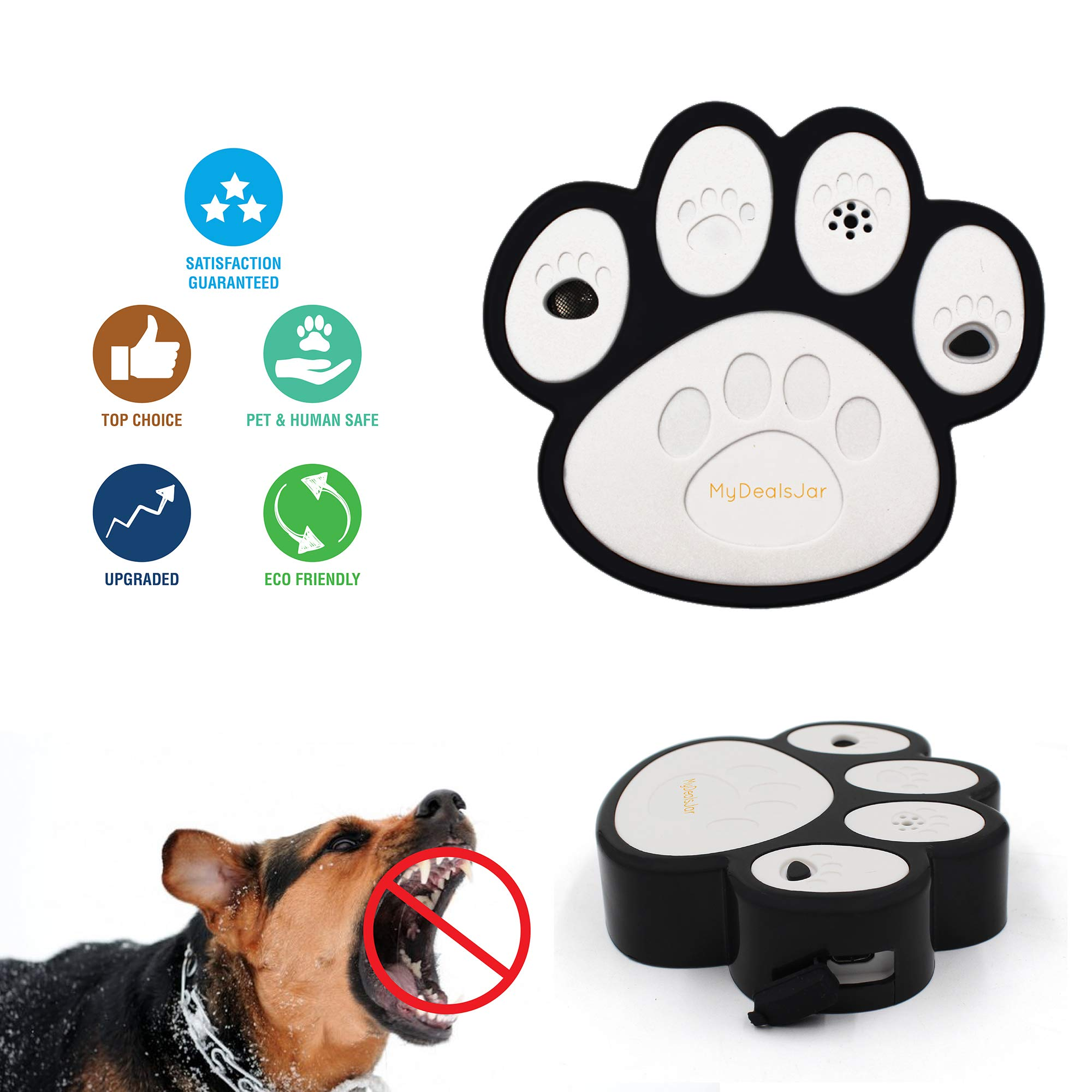 Ultrasonic anti barking device by MyDealsJar -handheld silencer tool/ training gadget/ bark control deterrent /stop dog bark machine outdoor and indoor /anti bark box Repeller for large & small dogs