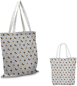 Amazon.com: Retro,Printed Canvas Tote Blue Eyes Crowns and