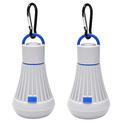 Luces de tienda ULG impermeable tienda de campaña luces 6 LED 4 modos Lampara de Camping