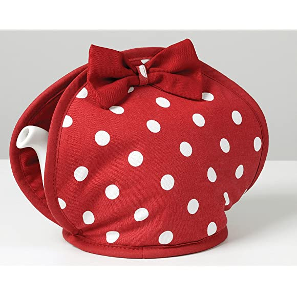 Belle Red Polka Dot Tea Cosy by C'est Ca