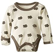 L'ovedbaby Unisex-Baby Newborn Organic Gloved-Sleeve Bodysuit, Stone Cloud, 0-3 Months