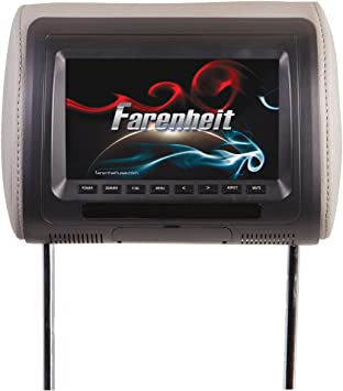 Soundstream VHR-72IRA Universal 7 Headrest Monitor with 2 A//V Inputs and LED Backlighting