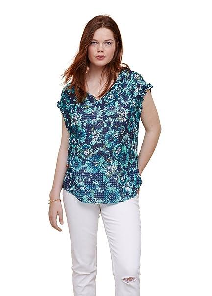 VIOLETA BY MANGO Camisas - para Mujer Verde Verde 44: Amazon.es: Ropa y accesorios