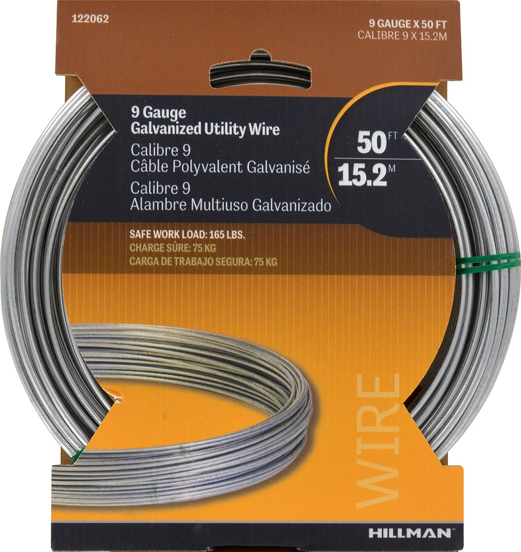 Amazon hillman 122062 galvanized solid wire 9 gauge 50 foot amazon hillman 122062 galvanized solid wire 9 gauge 50 foot coil home improvement greentooth Images