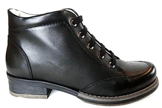 Ogswideshoes Albba Leather Black Boots Extra Wide C Width  3e Width