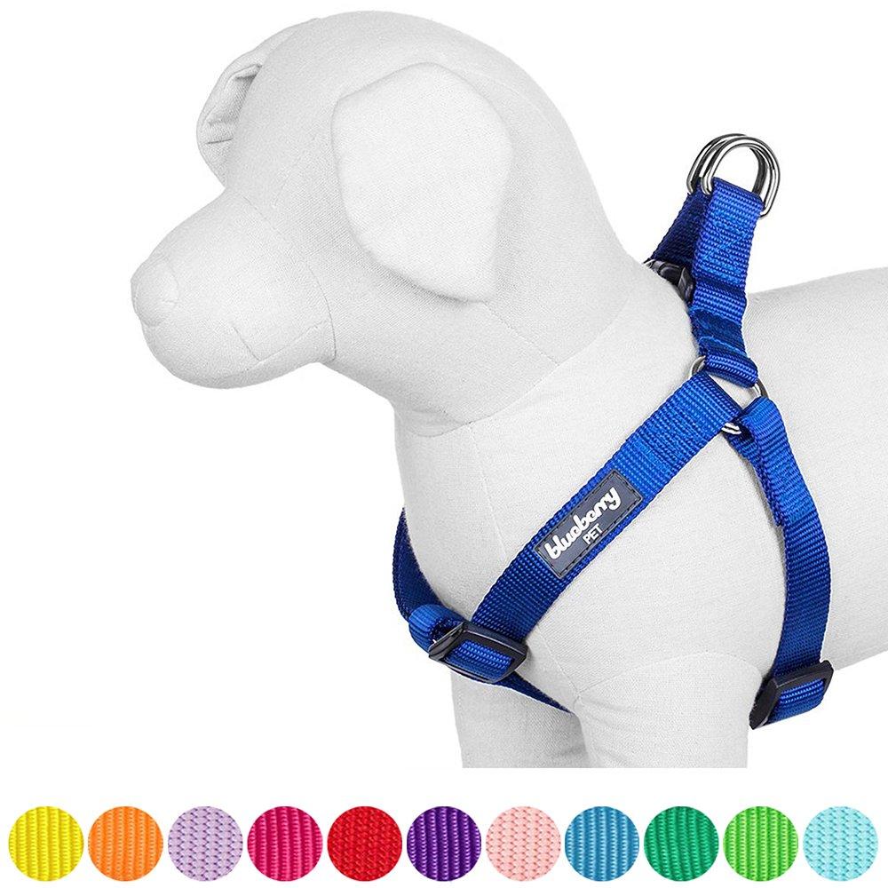 Blueberry Pet Harnais Tour de poitrail: 67-98cm, Classique, Solide, Rouge rouge, Réglable Nylon, Harnais pour chien, Collier et laisse assortis vendus séparément.