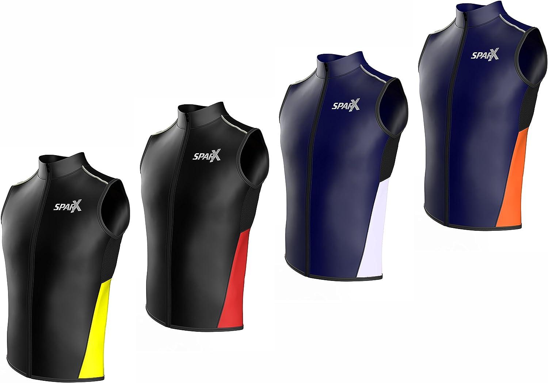 Reflective Running Windbreak Vest Compact Super-Light Road Cycling Sparx Men/'s Cycling Vest Bike Windbreaker Gilet