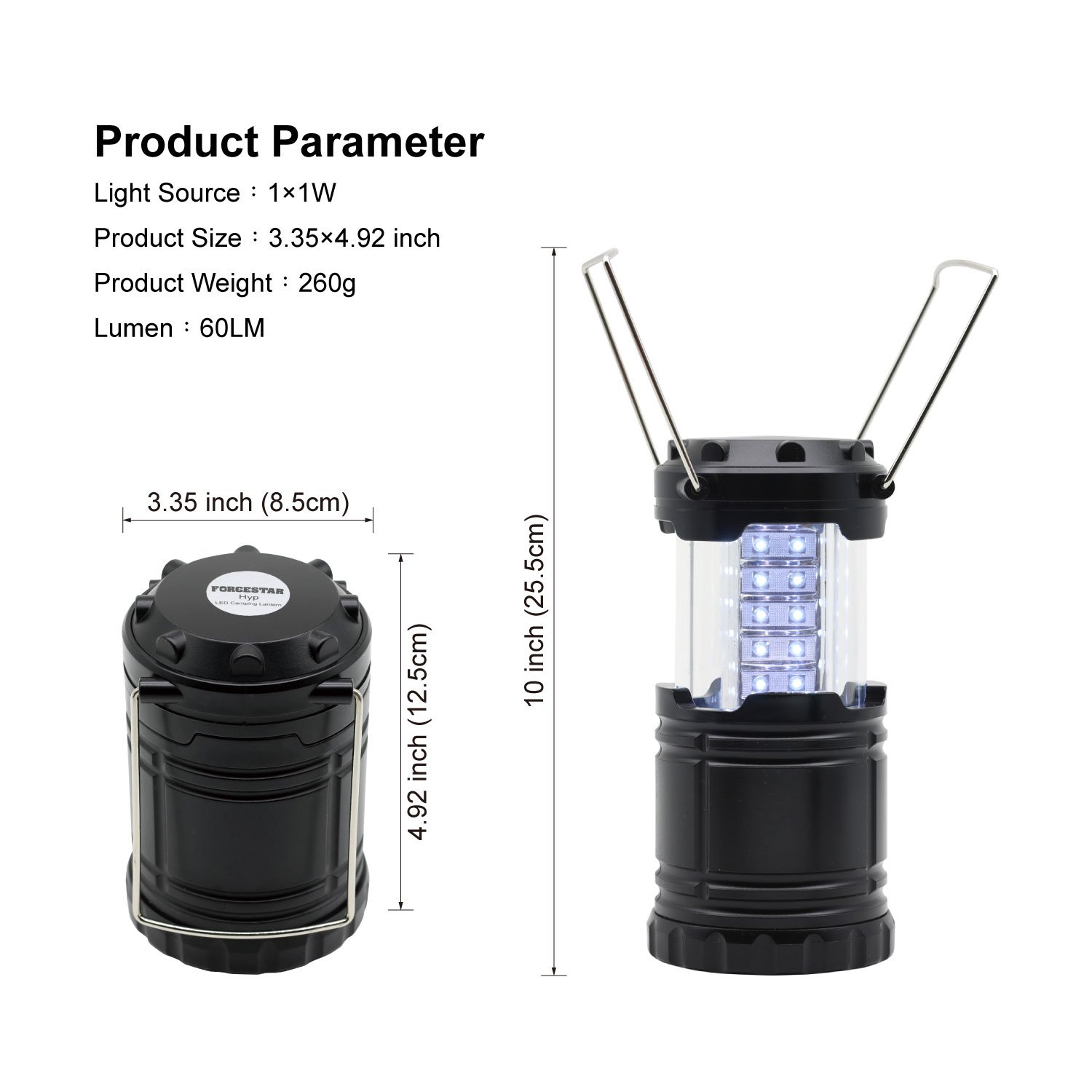 Ltd Forgestar LED Camping Lantern Outdoor Flashlight Portable Collapsible Camping lantern For Camping Outages Emergencies Storms Hurricanes Hiking Fishing Shanghai JLC Group Trading Co