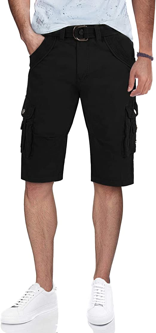 X RAY Jeans Mens Camo Denim Jean Shorts Slim Fit Stretch Casual Knee Legth Hem 12.5 Inseam